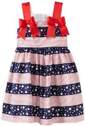 Bonnie Jean Girls 2-6X Navy Stars And Stripes Print Sundress