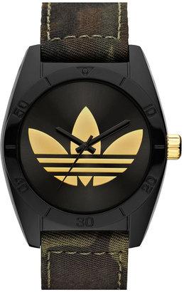 adidas 'Santiago' Camo Fabric Strap Watch Camo/ Gold One Size