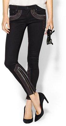 Mother The Looker Inside Zip Skinny Jean