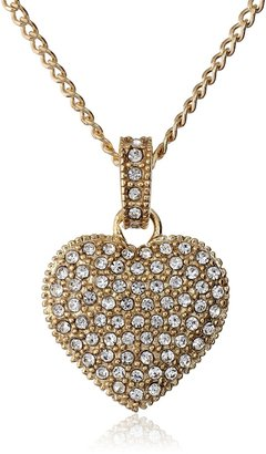 Judith Jack Golden Class Sterling Silver and Gold-Tone Crystal Marcasite Heart Pendant Necklace