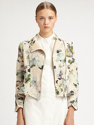 3.1 Phillip Lim Corded Floral Motorcycle Jacket