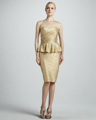 David Meister Peplum Cocktail Dress