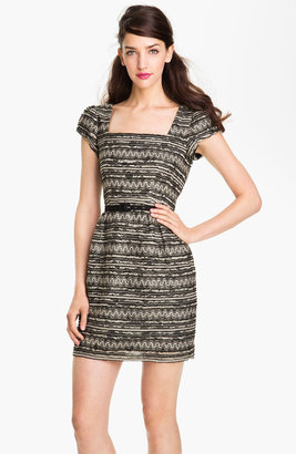 Nanette Lepore 'Starfest' Belted Lace Sheath Dress