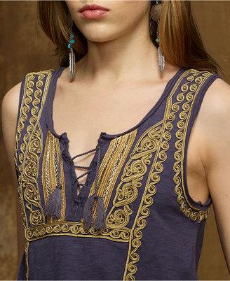 Denim & Supply Ralph Lauren Top, Sleeveless Embroidered Tank