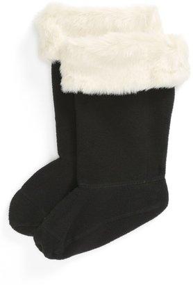 Hunter Faux Fur Cuff Welly Socks (Toddler, Little Kid & Big Kid)