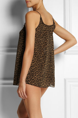 Agent Provocateur L'Agent by Leonara leopard-print stretch-georgette chemise