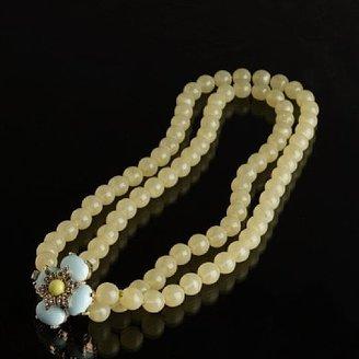 J.Crew Double-Strand Jeweled-Flower Necklace