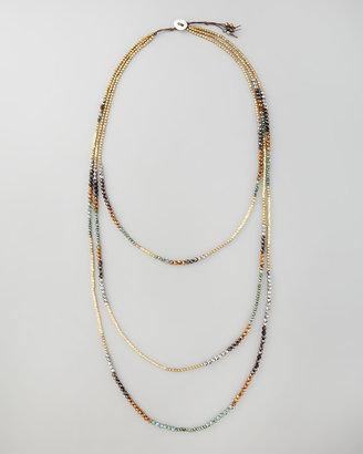 Nakamol Triple-Strand Beaded Necklace