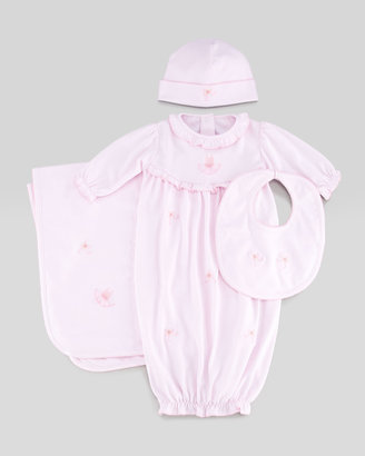 Kissy Kissy Arabesque Baby Bib, Pink