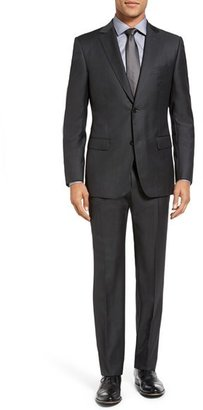 Men's Z Zegna Trim Fit Solid Wool Suit $1,395 thestylecure.com