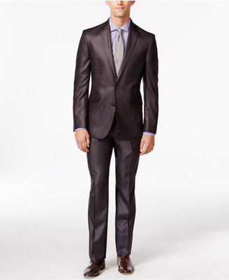 Kenneth Cole Reaction Brown Stripe Slim-Fit Suit