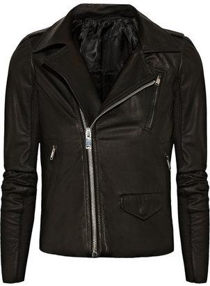 Rick Owens Blister leather biker jacket