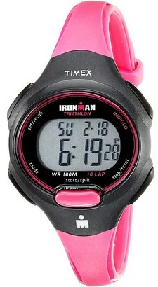 Timex - Sport Ironman Pink and Black Mid Size 10 Lap Watch Watches $45 thestylecure.com