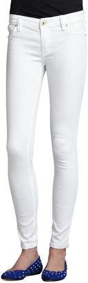Blank Spray-On Skinny Jeans, White
