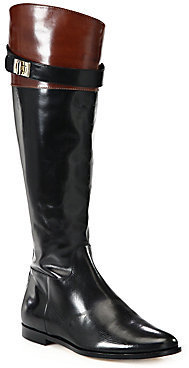 Cole Haan Two-Tone Leather Riding Boots