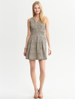 Issa Collection Leopard Printed Ponte Dress