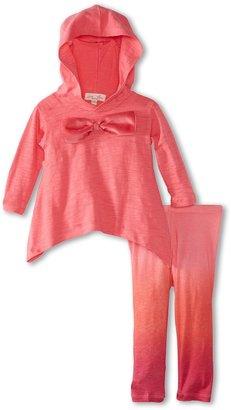 Luna Luna Copenhagen Ombre Soft Jersey Hooded Claire Lounge Set (Infant) (Cerise) - Apparel