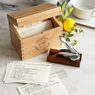 Williams-Sonoma Personalized Recipe Gift Set with Embosser