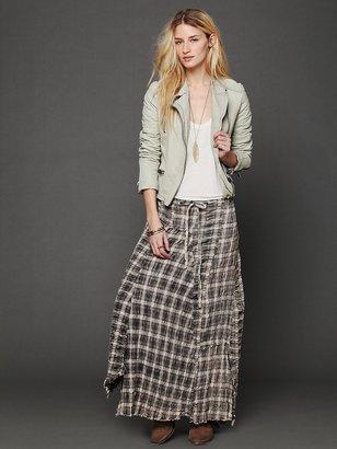 Free People Janus Plaid Maxi Skirt