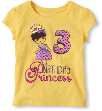 Children's Place Third birthday princess graphic tee