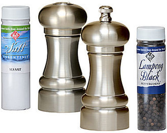 """William Bounds 4"""" Salt and Pepper Mill Set with Refills"""