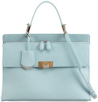 Balenciaga Le Dix Cartable Zip Satchel Bag, Blue