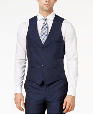 Bar Iii Midnight Blue Slim-Fit Vest $100 thestylecure.com