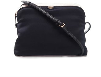 The Row Multi-pouch navy cross-body bag