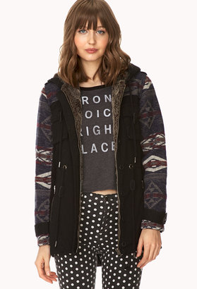 Forever 21 Rustic Faux-Fur Utility Jacket