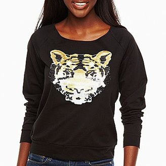JCPenney Sequins Tiger Sweater