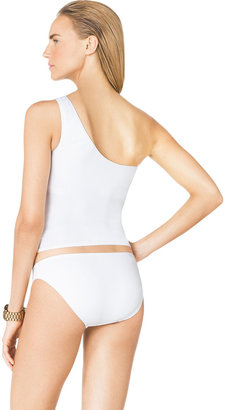 Michael Kors One-Shoulder Tankini Top with Hardware