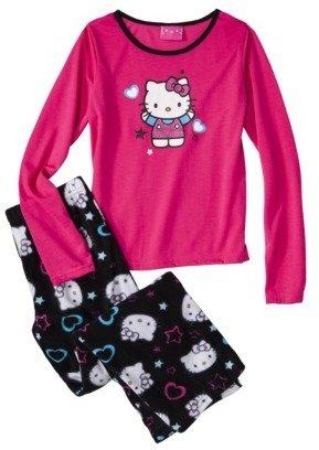 Hello Kitty Girls' Long-Sleeve 2-Piece Pajama Set