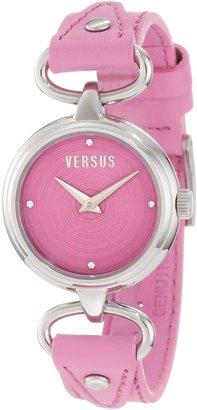 Versus By Versace Versus Women's 3C67900000 Versus V Pink Dial with Crystals Genuine Leather Watch