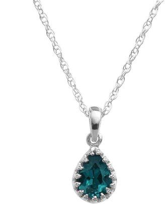 Tiara Sterling Silver London Blue Topaz Teardrop Pendant