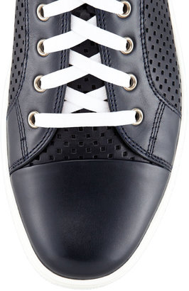 Bally Olir Perforated Leather High-Top Sneaker