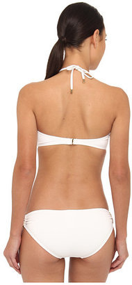Michael Kors Must Have Solids Bandeau Bikini Top and Classic Bottom Set