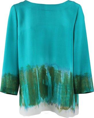 Alberta Ferretti Quarter Sleeve Boatneck Pullover