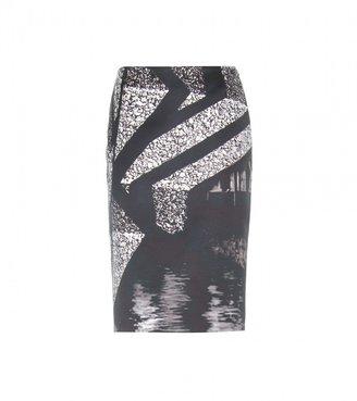 Mary Katrantzou Palma printed sateen skirt