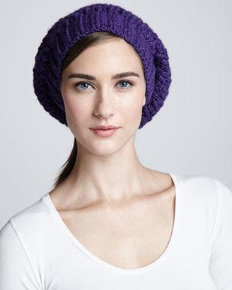 Portolano Popcorn Stitched Mushroom Hat, Iris Purple