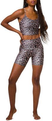Onzie High-Rise Leopard-Print Biker Shorts