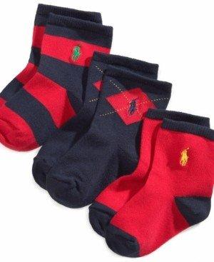 Polo Ralph Lauren Ralph Lauren Baby Boys Argyle Crew Socks 3-Pack
