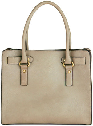 Melie Bianco Full Course Load Bag in Stone - 14 inch