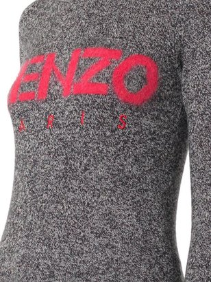 Kenzo Logo melange-knit sweater