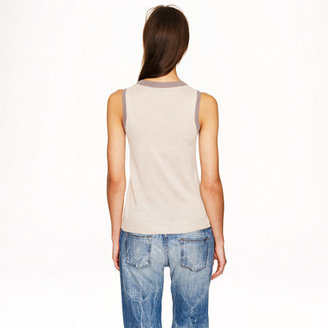 J.Crew Collection featherweight cashmere shell in colorblock