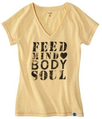 FEED for Target® Women's V-Neck Graphic Tee -Gold