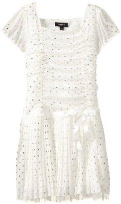 Amy Byer Girls 7-16 Plus-Size Cap Sleeve Pleat Dress