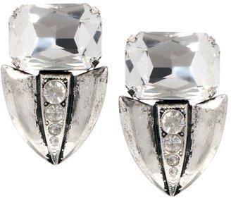 Asos Jewel Arrow Stud Earrings - Silver
