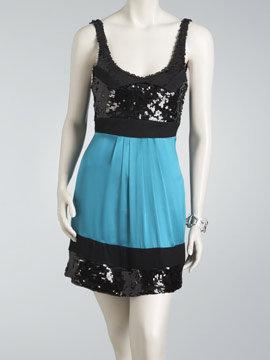 Arden B Embellished Colorblock Dress