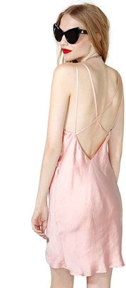 Nasty Gal Make Me Blush Slip Dress