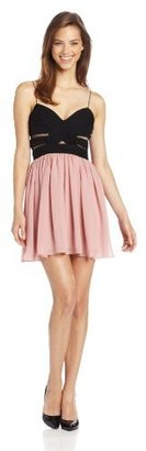 Adrianna Papell Hailey Logan by Juniors Two Tone Chiffon Dress